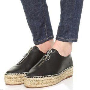 Alexander Wang Black Devon Zip Up Espadrille Shoes